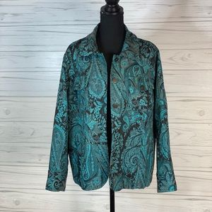 Laura Ashley 1x blue and brown jacket